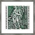 Gardening And Horticulture Vintage Postage Stamp Print Framed Print