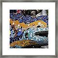 Gaudi Dragon Framed Print