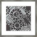 Gears And Chains Framed Print