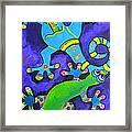 Gecko's Dipped In Paint Framed Print