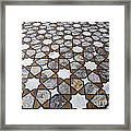 Geometric Marble Floor Design At Lahore Fort Framed Print