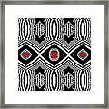 Pattern Black White Red Op Art No.389. Framed Print by Drinka Mercep