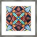 Geometric Symmetry Framed Print