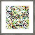 Georges Brassens Portrait Framed Print