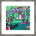 George Seurat- A Cyclops Sunday Afternoon On The Island Of La Grande Jatte Framed Print