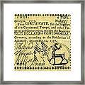 Georgia Banknote, 1777 Framed Print