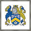 Gervais Coat Of Arms Irish Framed Print