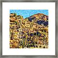 Giant Cordon Cactus Framed Print