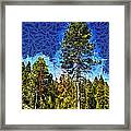 Giant Tree Abstract Framed Print