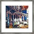 Gingerbread Houses Framed Print