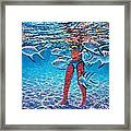 Girl With Silver Barbs Framed Print