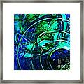 Glass Abstract 477 Framed Print