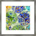 Glass Beads Abstract Framed Print