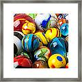 Glass Marbles Framed Print by Garry Gay