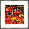 Glass Pumpkins Framed Print