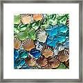 Glass Seashell Framed Print