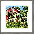 Glessner Wooden Bridge Framed Print