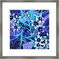 Glory Of The Snow - Violet And Turquoise Framed Print