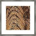 Goden Fern Branch Framed Print