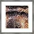 Gold Carving Framed Print