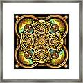Gold Celtic Cross Framed Print
