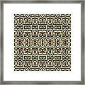 Gold Metallic 7 Framed Print