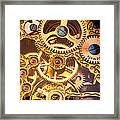 Gold Pocket Watch Gears Framed Print by Garry Gay