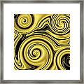Gold Swirl Framed Print