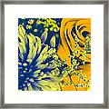 Golden Blossoms Pop Art Framed Print