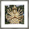 Golden Buddha With Many Arms Framed Print