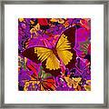 Golden Butterfly Painting Framed Print