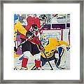 Golden Goal In Sochi Framed Print