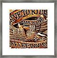 Golden Harley Davidson Logo Framed Print