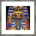 Golden Inner Sarcophagus Of A Pharaoh Framed Print by Daniel Hagerman