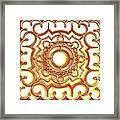 Golden Ornamental Design. Framed Print