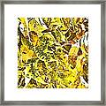 Golden Pecan Leaves Abstract Framed Print