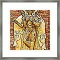 Golden Sculpture In A Hindu Temple In Patan Durbar Square In Lalitpur-nepal Framed Print