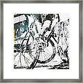 Graffiti Bikes Framed Print
