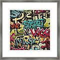 Graffiti Grunge Texture. Eps 10 Framed Print