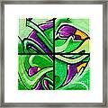Graffiti In Green Framed Print
