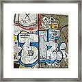 Graffiti In Sozopol Framed Print