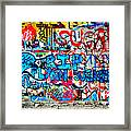 Graffiti Street Framed Print by Bill Cannon