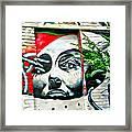 Grafitti Three Lady Framed Print