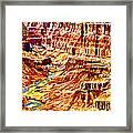 Grand Canyon Navajo Painting Framed Print