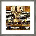 Grand Cerntral Terminal Clock No. 1 Framed Print
