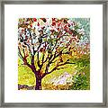 Grandmas Apple Tree Modern Art Framed Print