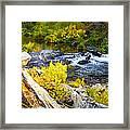 Granite Rocks Above The Cascading Feather River, Quincy California Framed Print