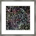 Graphic New York 3b Framed Print
