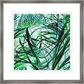 Grassy Glow  Framed Print