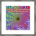 Gratitude Is The Fairest Blossom Framed Print